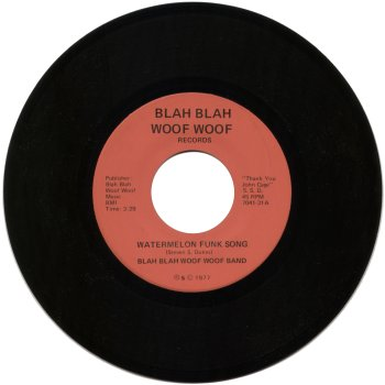 blah blah woof woof band vinyl