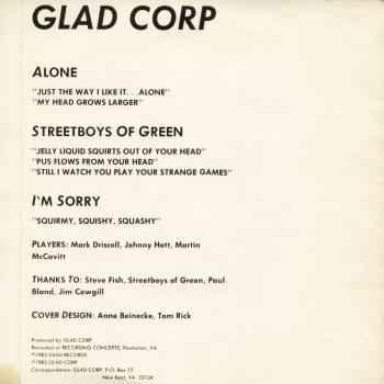 glad corp back cover
