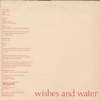 wishes and water back cover