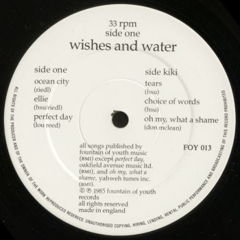 wishes and water black vinyl