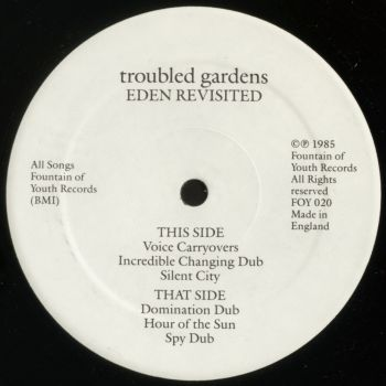 troubled gardens black vinyl