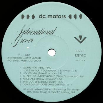 dc motors black vinyl