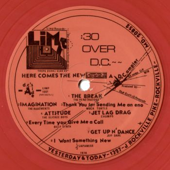 30 over dc red vinyl