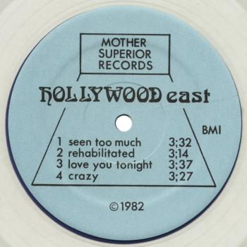 hollywood east clear vinyl