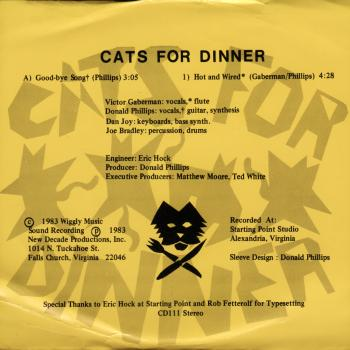 cats for dinners back cover