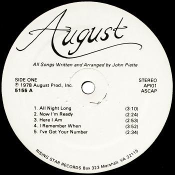 august vinyl