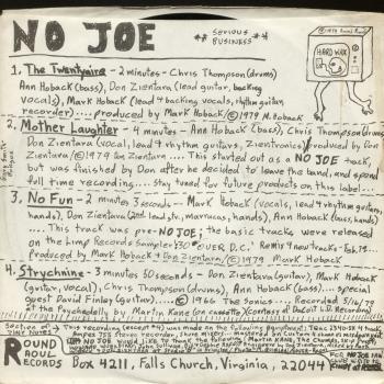 no joe back cover