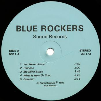 blue rockers black vinyl