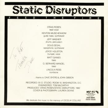 static disruptors back cover