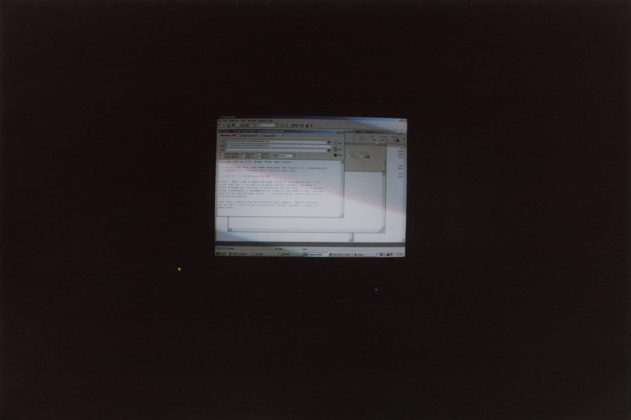 James' computer on April 2, 2002