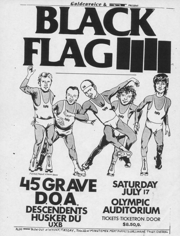 dementlieu punk archive black flag 1982 07 17