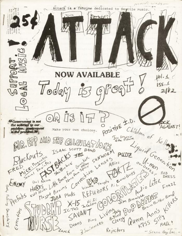 attack fanzine number 1 cover