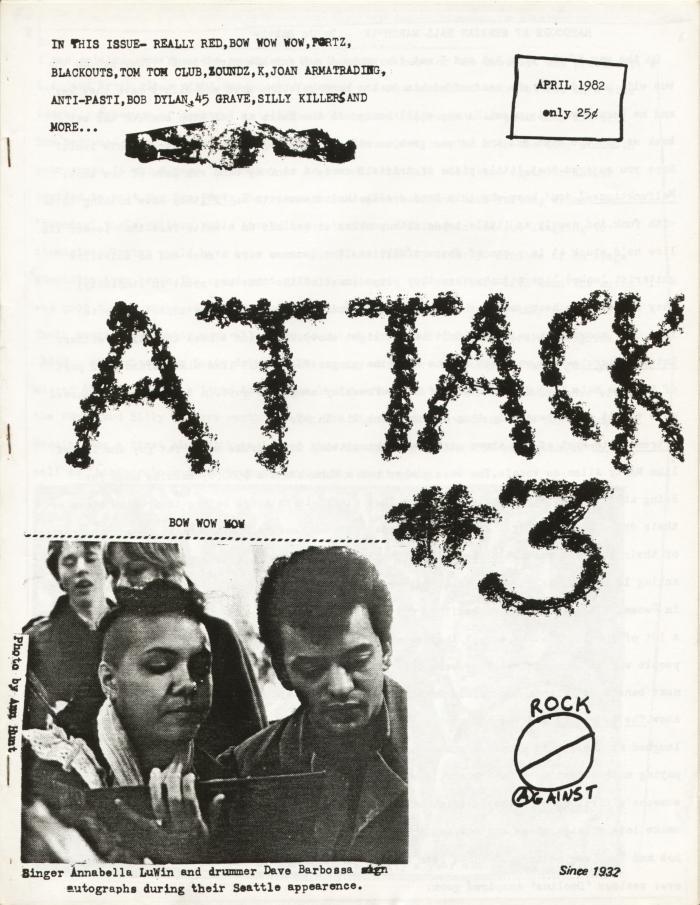 attack fanzine number 3 cover