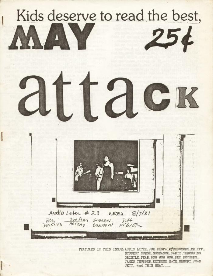attack fanzine number 4 cover