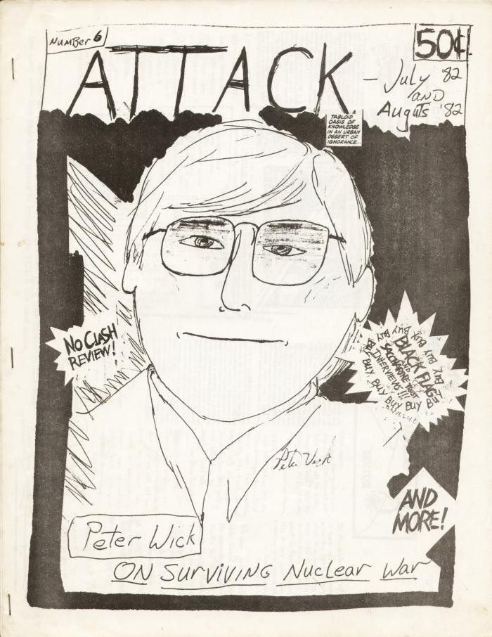 attack fanzine number 6 cover