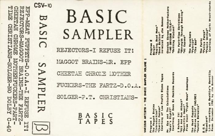 basic sampler advertisement