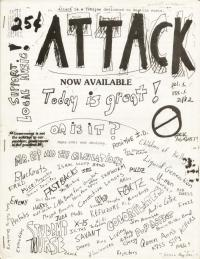 attack fanzine number 1 cover