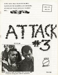 attack fanzine number 3 cover