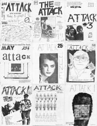 attack fanzine collage