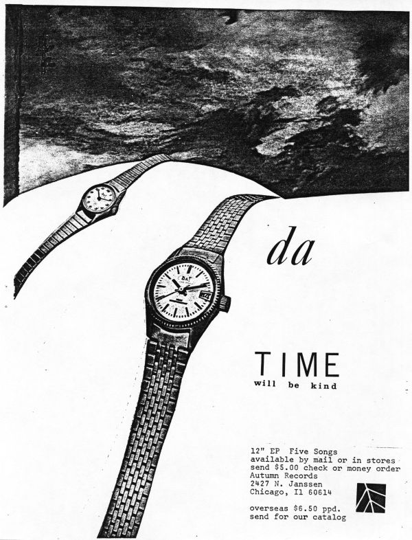 da - time will be kind advertisement