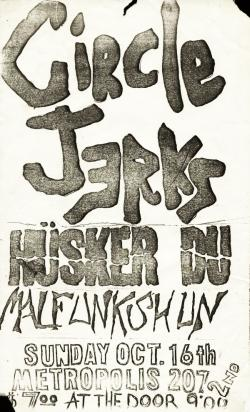 circle jerks and husker du flyer