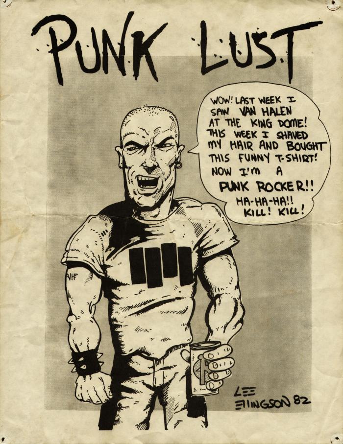 punk lust flyer front