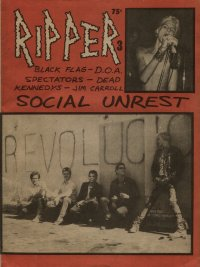 ripper fanzine number 3 cover