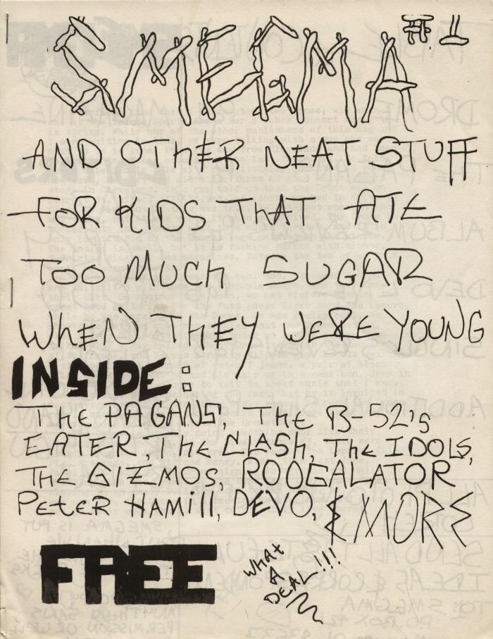 smegma fanzine number 1 cover