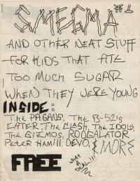 smegma journal fanzine number 1 cover