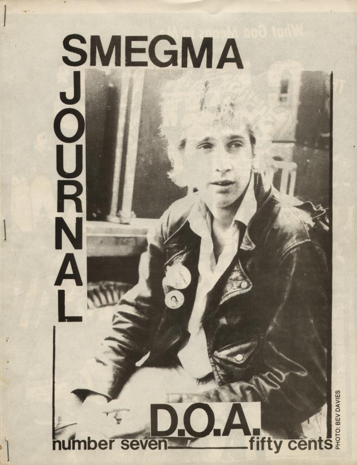 smegma fanzine number  cover