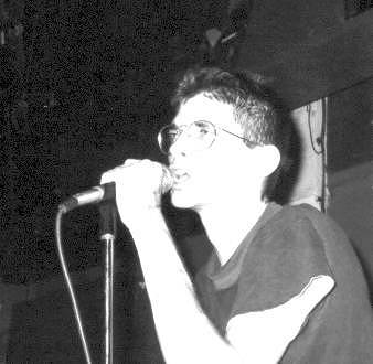 albini ranting at the microphone